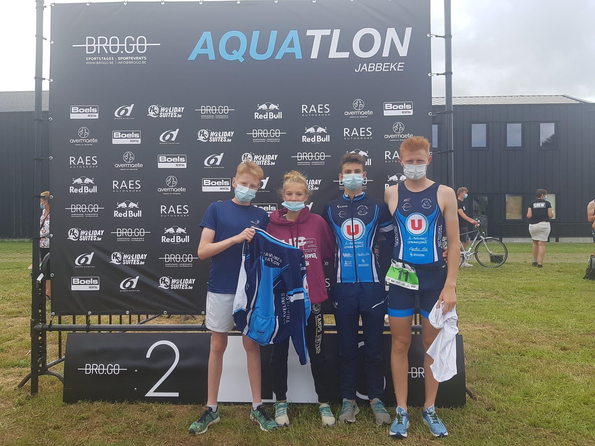 Résultats Aquathlon Jabbeke (Belgique)